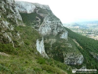 Montgó - Catedral Senderismo- Cova Tallada; senderismo en burgos senderismo sierra norte sevilla